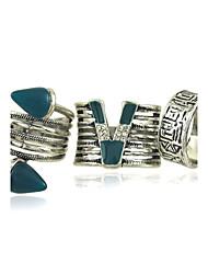 женский сплав кольцо rhinestone сплава 4 штуки классический женский стиль