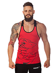 cheap -Men's Gym Tank Top Sleeveless Quick Dry High Breathability (>15,001g) Breathable Sweat-wicking Vest/Gilet Tank Top for Exercise & Fitness