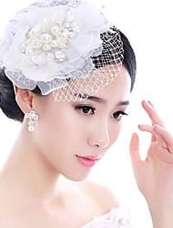 cheap -Pearl Feather Fascinators Headpiece Classical Feminine Style