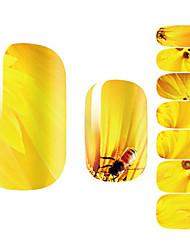 14Pcs/Sheet Sanat Sticker Nail 3D Tırnak Çıkartması Karton / Çiçek / Sevimli Makyaj Kozmetik Sanat Tasarım Nail