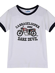 preiswerte -Jungen T-Shirt Alltag Baumwolle Sommer Kurzarm Weiß Gelb Rot