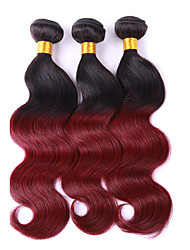 3 Pieces Wavy Human Hair Weaves Brazilian Texture 100 12-26 Human Hair Extensions