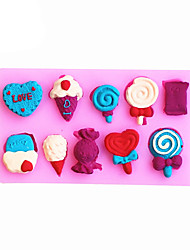 cheap -Ice cream Shaped Silicone Fondant Cake Cake Chocolate Silicone Molds,Decoration Tools Bakeware
