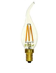 E14 LED Candle Lights C35 4 COB 200-300lm Warm White Cold White 2200K 2700K  3000K Dimmable Decorative AC 220-240V
