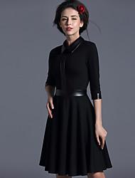 Baoyan® Da donna Colletto alla coreana Maniche a 3/4 Sopra il ginocchio Vestiti-14497