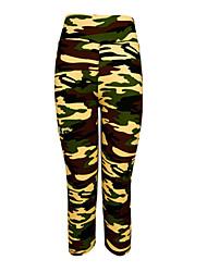 Mulheres Camiseta Segunda Pele Leggings de Ginástica Leggings de Corrida Secagem Rápida Vestível Compressão Resistente ao Choque 3/4