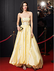 A-Line Strapless Asymmetrical Taffeta Prom Formal Evening Dress with Sequins by TS Couture®