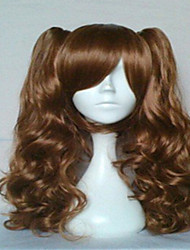 Popular Cosplay Wigs Dark Brown Long Wavy Animated Synthetic Hair Wig Cartoon Wig