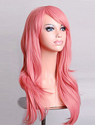 cheap -70 cm Long Curly Smoke Pink Hair Air Volume High Temperature Silk Wig