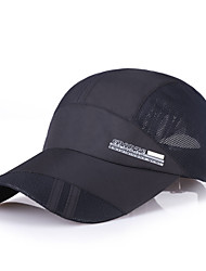 Cap Visor Hat Spring Summer Quick Dry Running/Jogging Camping / Hiking Fishing Climbing Men's Mesh Solid Color