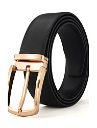 cheap -Men's Luxurious Double sided Genuine Leather Pin Buckle Belt Can Adjust Size