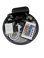 cheap -5m RGB Strip Lights 300 LEDs SMD 2835 1 24Keys Remote Controller / 1 x 2A power adapter RGB / Yellow 12 V 1set / IP65