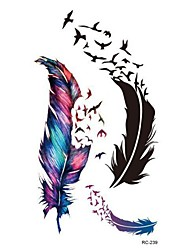 cheap -Trendy Waterproof Small Fresh Wild Goose Feather Pattern Tattoo Stickers - Photo Color Charming Body Accessories
