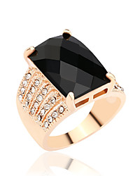 cheap -Women's Statement Ring Luxury Elegant Fashion Synthetic Gemstones Imitation Diamond Alloy Costume Jewelry Party Daily Casual