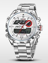 WEIDE Pánské Náramkové hodinky Digitální hodinky Křemenný Digitální Japonské Quartz LCD Kalendář Chronograf Voděodolné Hodinky s dvojitým