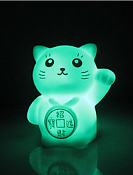 cheap -Creative Color-Changing Romantic Gift Maneki Neko Colorful LED Night Light