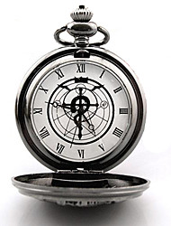 cheap -Clock/Watch Inspired by Fullmetal Alchemist Edward Elric Anime Cosplay Accessories Clock/Watch Silver Alloy Male