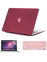 "Case for MacBook Pro 13""/15"" with Retina display Solid Color ABS Material 3 in 1 Quicksand Matte Case with Keyboard Cover and Screen Protector"