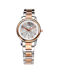 cheap -SINOBI Women's Quartz Wrist Watch Calendar / date / day Water Resistant / Water Proof Alloy Band Casual Elegant Fashion Rose Gold