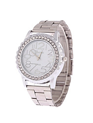 cheap -Men's Women's Couple's Fashion Watch Quartz Stainless Steel Band Silver Gold