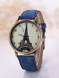 Masculino Relógio de Pulso Relógio Casual Quartzo Tecido Banda Preta Branco
