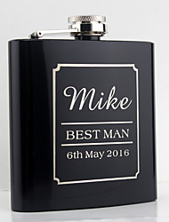cheap -Personalized Stainless Steel Barware & Flasks Hip Flasks Bride Groom Bridesmaid Groomsman Couple Parents Wedding Anniversary Birthday