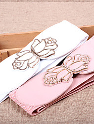 cheap -Women Leather Flowers Wide Belt,Vintage / Cute / Party / Casual Alloy