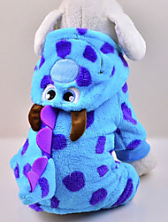 Cat / Dog Costume / Hoodie / Clothes/Jumpsuit Blue Dog Clothes Winter / Spring/Fall Cartoon Cute / Cosplay