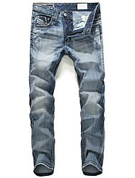 cheap -Mens Printed Jeans Sweatpants,Casual / Sport Solid Cotton