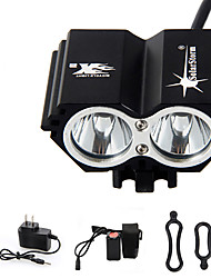 cheap -Headlamps Bike Lights Headlight LED 3000 lm 4 Mode LED with Battery and Charger Rechargeable Waterproof Emergency Cycling/Bike