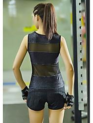 Women's Running Tank Sleeveless Quick Dry Breathable Vest/Gilet Tank Top for Yoga Pilates Exercise & Fitness Racing Running Terylene Slim