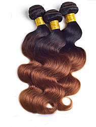 "3Pcs/Lot 8""-24"" Brazilian Virgin Hair Color 1b/30 Body Wave 100g/Piece Raw Human Hair Weaves"