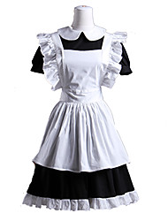 cheap -Gothic Lolita Dress Lolita Women's Maid Suits Cosplay White Short Sleeves
