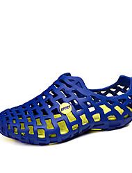 baratos -Homens sapatos Pele PVC Courino Primavera Verão Conforto Sandálias Estampa Animal para Casual Ao ar livre Preto Cinzento Azul