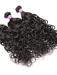 cheap -Malaysian Hair Wavy Curly Weave Human Hair Weaves 3 Pieces Natural Color Hair Weaves