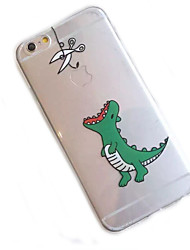 iPhone 7 Plus Little Dinosaur Pattern Transparent Materials Phone Case for iPhone 6/6S/6Plus/6S Plus
