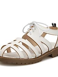 Women's Shoes Low Heel Sling back/Gladiator/Open Toe Sandals Office & Career/Dress Black/Brown/White