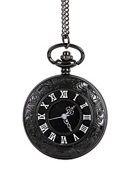 cheap -Unisex Pocket Watch Large Roman Numerals Retro Classic Black Clamshell Shiying Huai Table Cool Watches Unique Watches