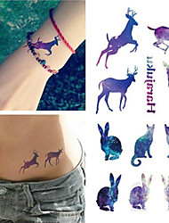 cheap -Waterproof / Tattoo Sticker Face / Hand / Arm Temporary Tattoos 1 pcs Animal Series Body Arts