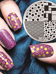 cheap -2016 Latest Version Fashion Pattern Nail Art Stamping Image Template Plates