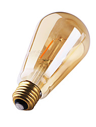 cheap -3W E26/E27 LED Filament Bulbs ST64 2 COB 180 lm Warm White 2200 K Decorative AC 220-240 V 1pc