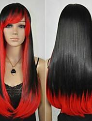 Недорогие -Искусственные волосы парики Естественные прямые Прямой силуэт Без шапочки-основы Карнавальный парик Парик для Хэллоуина Парики для косплей