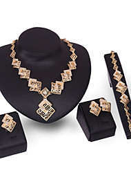 baratos -Mulheres Conjunto de jóias - Strass Fashion, Euramerican Incluir Dourado Para Casamento Festa Noivado / Brincos