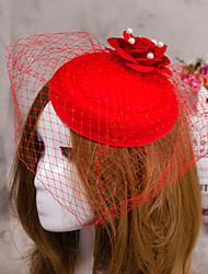 flor pena cabelo chapéu véu fascinator jóias para festa de casamento