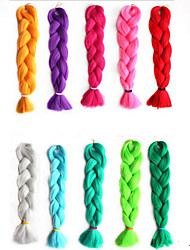 Ms African  Fiber Color Big Child Jumbo Braid Hair High Temperature Wire Monochromatic Braid 1PCS