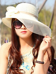 cheap -Women Straw Bow Sun Fedora Hat,Party / Casual Spring / Summer / Fall