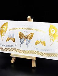 abordables -Non Toxic / Modelo / Hawaiian Cuerpo Los tatuajes temporales 1 pcs Series de Joya Artes de cuerpo