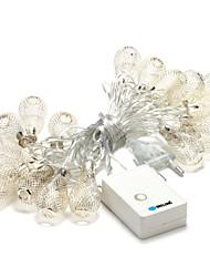 brelong 20 conduit 3.5m noël décoration de vacances chaleureuse lumière string blanc (AC220V)