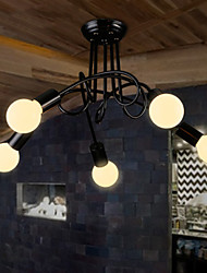 cheap -Retro Industrial Loft Nordic Pipe Iron Ceiling Light Loft Lustre Lamps for Home Decor Restaurant Dinning Room
