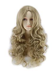 abordables -les nouveaux cos perruques Anime perruque brune cheveux bouclés